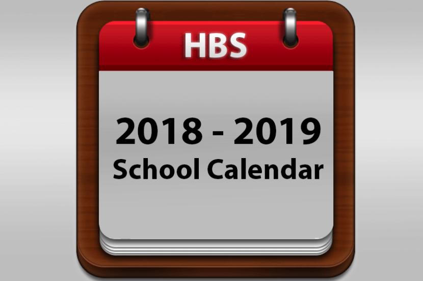 HBS 2018-2019 School Calendar